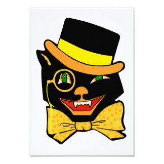 Cat in a Top Hat 9 Cm X 13 Cm Invitation Card