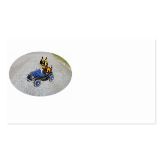 Cat In A Toy Car Business Cards