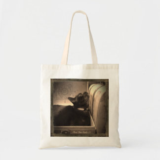 Cat in an Antique (style) Box, 3 of 4 Budget Tote Bag