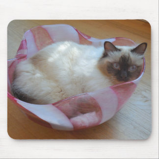Cat in Bowl - Mouse Mat
