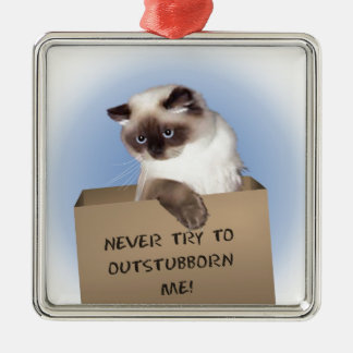 Cat in Box Christmas Ornament