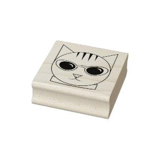 Cat in Cat's-Eye Sunglasses Rubber Stamp