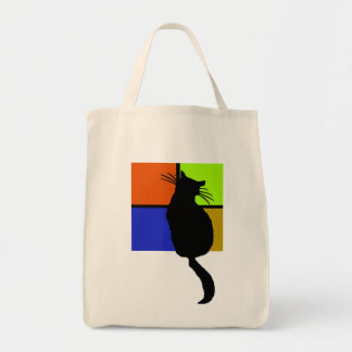Cat in Colored Windows Bag