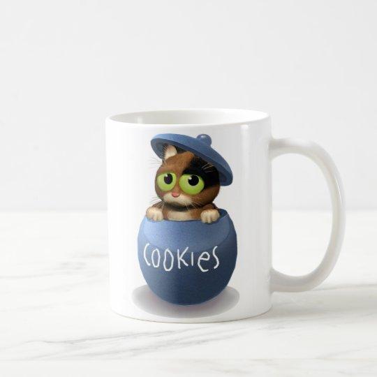 Cat in Cookie Jar Coffee Mug