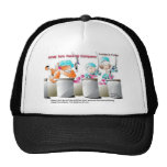 Cat In Fish Factory Funny Gifts & Collectibles Mesh Hats