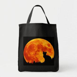 Cat in full orange Moon Tote Bag