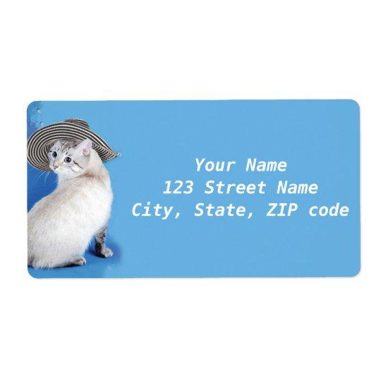 Cat in Hat return address  label by BestPeople