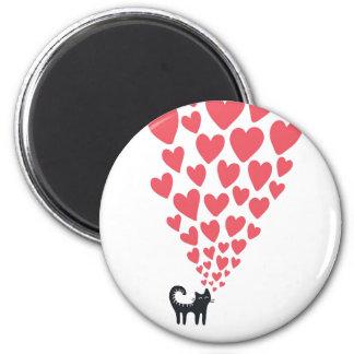 Cat in Love 6 Cm Round Magnet