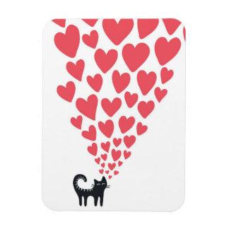 Cat in Love Rectangular Photo Magnet