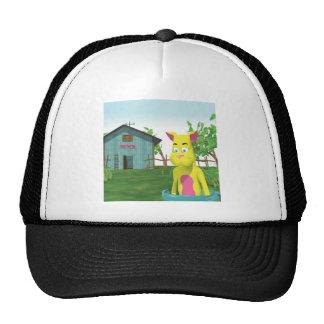 Cat in Milk Bucket Mesh Hats