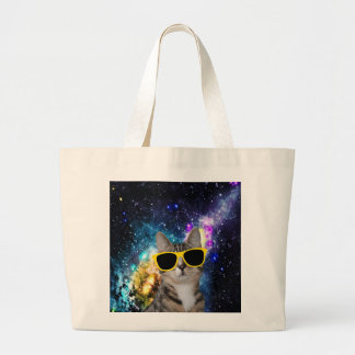 Cat in Outer Space Tote Bag