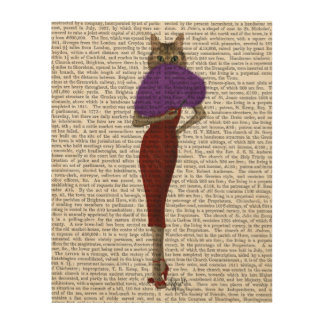Cat In Red Dress Wood Wall Decor