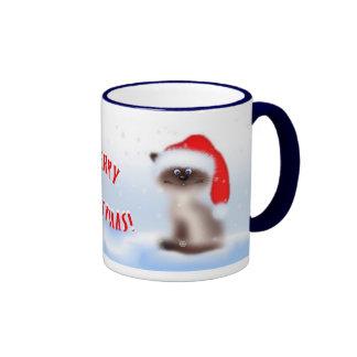 Cat in Santa Hat Mug