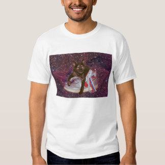 Cat in space tees