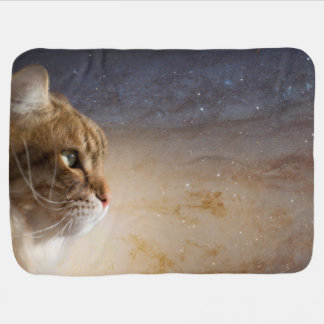 Cat in the Andromeda galaxy Swaddle Blankets
