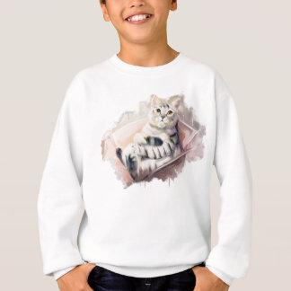 Cat in the box. sweatshirt