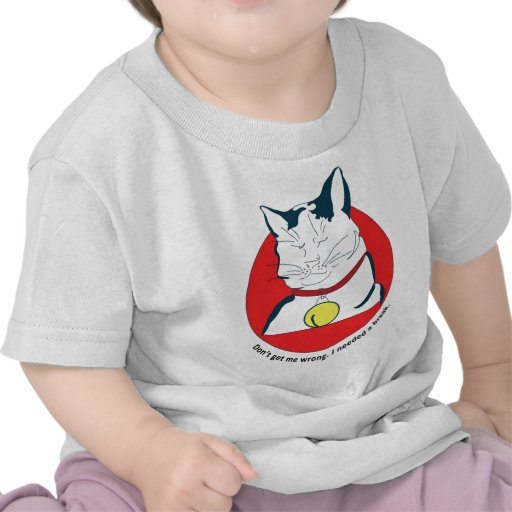 cat in the break shirt
