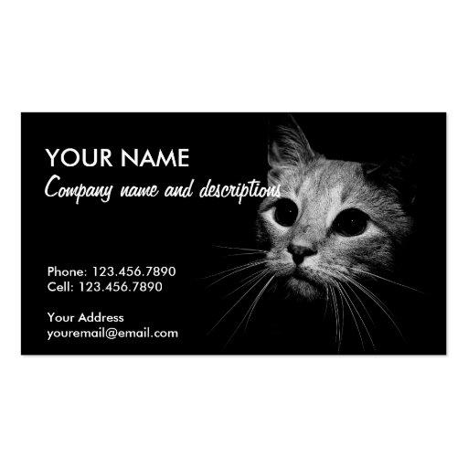 Cat In The Dark Business Card