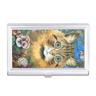 Cat in the flower, Louis Wain Business Card Holder