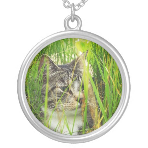 Cat in the Grass Necklace