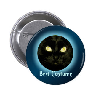 Cat in the Moon Halloween Party Buttons