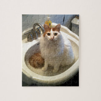 Cat in the Sink Jigsaw Puzzle