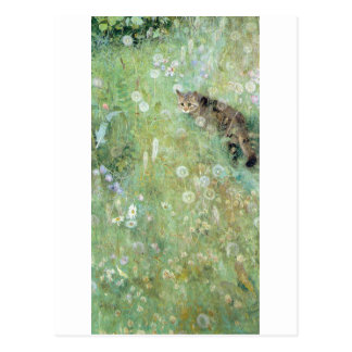 Cat in the Summer Meadow, Bruno Liljefors Postcard