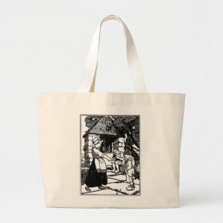 Cat in the Well Nursery Rhyme Canvas Bags