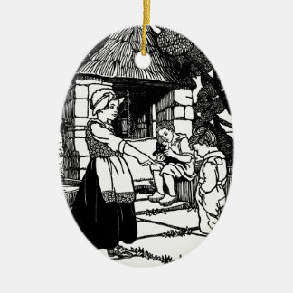 Cat in the Well Nursery Rhyme Christmas Ornament