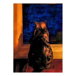 Cat in the Window ATC Pack Of Chubby Business Cards