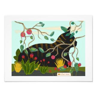 Cat in tropical garden 1 photo art