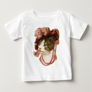 Cat in Victorian Hat Baby T-Shirt