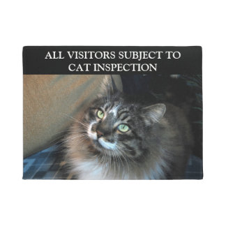 Cat Inspection Irresistible Zorro Doormat