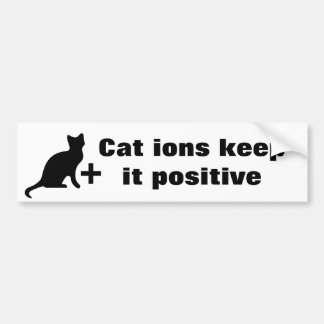 Cat ions bumper sticker