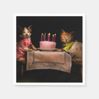 Cat - It's our birthday - 1914 Disposable Napkin