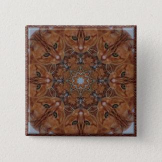 Cat Kaleidoscope 15 Cm Square Badge