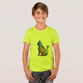 Cat Kids' Bella + Canvas Crew T-Shirt, Neon Yellow T-Shirt