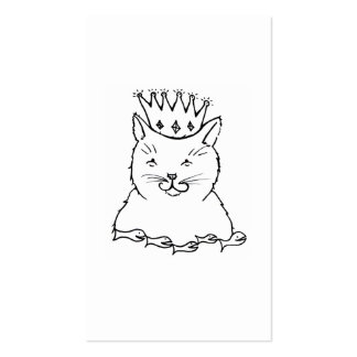 Cat King - fun feline royalty art drawing design Double-Sided Standard Business Cards (Pack Of 100)