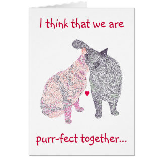 Cat Kiss, Marriage Proposal Card, Would you marry Greeting Card