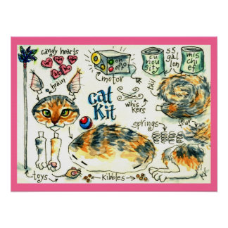 Cat Kit funny kitty poster