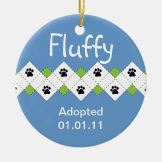 Cat/Kitten Adoption Announcement Christmas Ornament