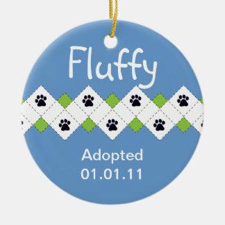 Cat/Kitten Adoption Announcement Round Ceramic Decoration