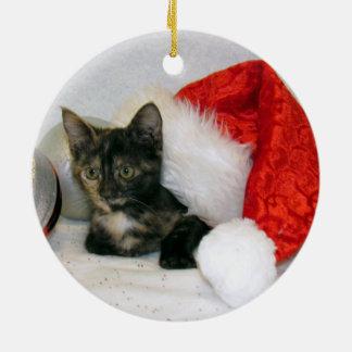 Cat, Kitten, Christmas, Rescue Christmas Ornament