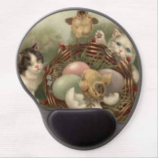 Cat Kitten Easter Colored Painted Egg Chick Gel Mouse Pad