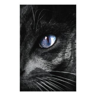 Cat Kitten Eye Stare Look Animal Personalized Stationery