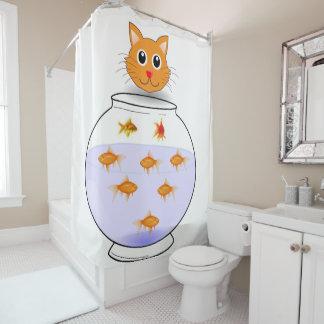 Cat kitten shower curtain