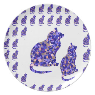 Cat Kittens KIDS Love Template Greetings Gifts FUN Party Plates