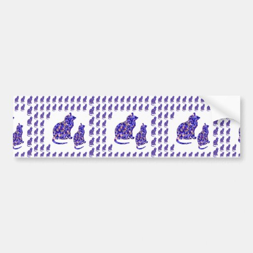 Cat Kittens KIDS Love Template Greetings Gifts FUN Bumper Stickers
