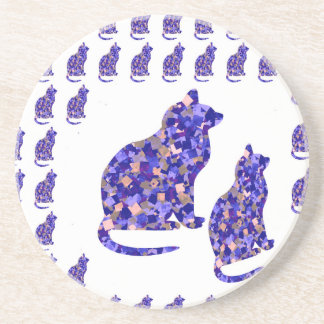 Cat Kittens KIDS Love Template Greetings Gifts FUN Beverage Coasters
