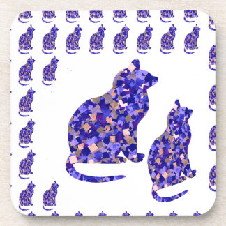 Cat Kittens KIDS Love Template Greetings Gifts FUN Drink Coaster